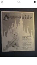 DISNEYLAND 50TH ANNIVERSARY GOLD CAST MEMBER/VIP REFERENCE GUIDE NM RARE HTF