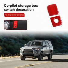 Red Copilot Storage Box Handle Switch Cover Trim For Toyota 4runner 2010 2019 Fits Toyota