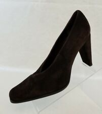 Martinez Valero Pumps Brown Suede Slip On Womens Shoes Size 9.5 NEW