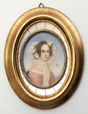 Ritratto in miniatura di giovane signora - Miniature portrait of a young lady