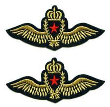 Set á 2 Patch Airborne Army Patch Crown fuerza aérea Air Force