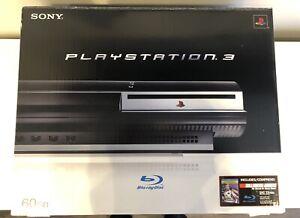 Sony PlayStation 3 60GB Backwards Compatible (CECHA01) Console Bundle PS3 w/ Box