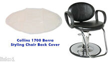 Salon Chair Back Cover (Collins 1700 Berra Styling Chair ) Clear Vinyl