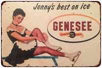 "1981 Genesee Beer & Ale Rustic Retro Metal Sign 8"" x 12"""