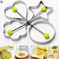 Kitchen Cooking Tools Stainless Steel Fried Egg Shaper Ring Pancake Mould Mold A