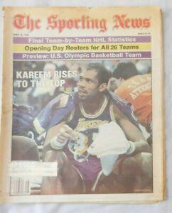 April 16 1984 Sporting News Kareem Abdul Jabbar Los Angeles Lakers