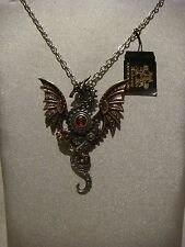 Alchemy Gothic pendant necklace in pewter Blast furnace behemoth