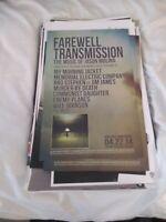 Vintage Promo poster FAREWELL TRANSMISSION