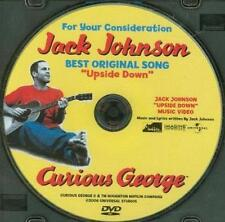 """For Your Consideration Curious George Jack Johnson """"Upside Down"""" PROMO FYC DVD"""