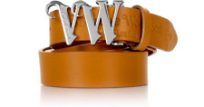 Mustard Unisex Vivienne Westwood 5874 VW Monogram Belt (Can be cut to size) £90