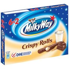 Milky Way CRISPY ROLLS 6x2 MULTIPACK -Made in Germany- 150g-
