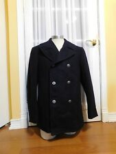 Vintage Militiary Navy Blue Pea Coat Excellent Condition