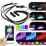 15W RGB LED Car Tube Strip Underglow body Neon Light Kit APP Wireless Control