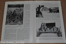 1945 magazine article about the STILWELL ROAD, Burma China, Army Engineers WWII