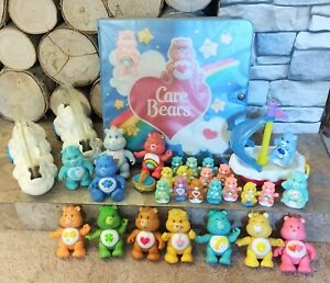 Vintage Care Bear Figures Lot Poseable with Accessories