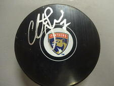 COLTON SCEVIOUR   FLORIDA PANTHERS  SIGNED AUTO  HOCKEY PUCK W/COA