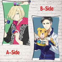 Anime YURI!!! on ICE Yuri Plisetsky Otabek ALTIN Yaoi fandom Pillow Case Bedding