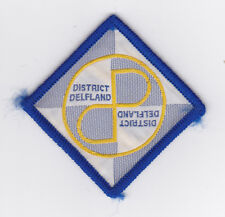 SCOUTS OF HOLLAND - NEDERLAND / DUTCH SCOUT DELFLAND DISTRICT PATCH ~ EXTINCT