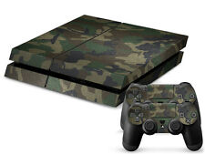 Sony Ps4 Playstation 4 Design Skin Autocollant Film Protecteur Set - Camouflage