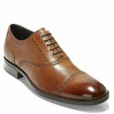 Cole Haan Wayne Cap Toe Oxford British Tan Dress Shoes C30689 Size 11