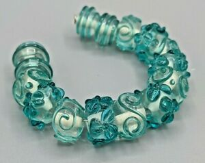 New 15 pc set Fine Murano Lampwork Glass Beads - 14mm - B-A566
