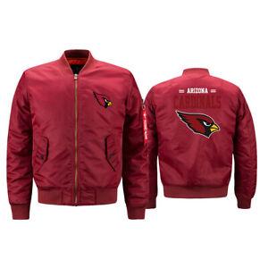 Arizona Cardinals Fan's Flying Pilot Bomber Jacket Thicken Hoodie Windproof Coat