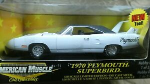American Muscle ERTL 1970 Plymouth Superbird White 1/18 Hobby Ed. 1 of 5000 MIB