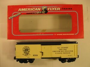 "American Flyer 6-48318 ""A.C.GILBERT"" BOX CAR ""NEW"" in ORIG BOX"