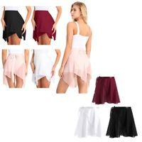 Adult Kids Chiffon Ballet Dress Tutu Dancewear Skate Wrap Scarf Leotard Skirt