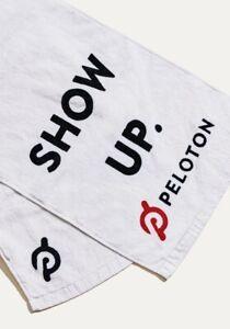 Genuine Peloton Core Sweat Towel 2.0 Gym Exercise Workout WHITE