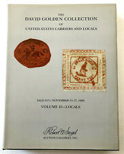 1999 Hc, David Golden Collection Us Carriers & Locals Stamps Vol. 2 with Prices