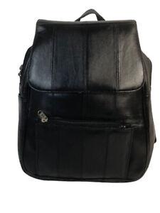 Genuine Leather Backpack LBP12 Black