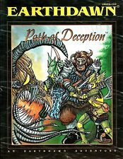 Earthdawn: Path Of Deception (Living Room Games). 113 page Adventure Module.New!