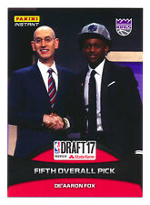 2017 PANINI INSTANT DRAFT DE'AARON FOX RC KINGS FIRST NBA ROOKIE CARD! SP/209!