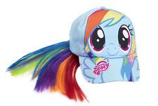 Ragazze My Little Pony Rainbow UNICORNO AZZURRO Cappellino Da Baseball Cappello & Capelli Coda Di Cavallo