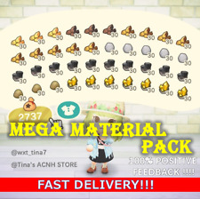 Mega Material Pack Wood, Stone, Clay, Gold, Iron Animal:Crossing New Horizon