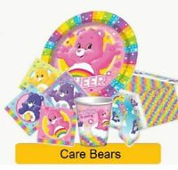 CARE BEARS 1st Birthday Party Supplies Tableware Decorations Plates Cups Balloon
