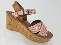 Kork Ease Sundance Womens Wedge Sandal Size 9 Red Brown Cork Shoes