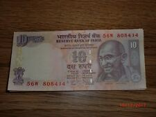 INDIA PAPER MONEY - 50 X RS.10/- OLD 'MG' NOTES-D.SUBBARAO-2009-PLAIN-MIXED-D-79