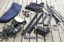 Bowens Calumet Travelite Studio Umbrellas, Stands, Misc. Lighting Equipment Lot