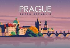 "Prague Czech Vintage Poster Travel Photo Fridge Magnet 2""x 3"" Collectible"