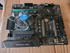 MSI Z270 SLI DDR4 MOTHERBOARD W G3920 CPU AND 4GB RAM