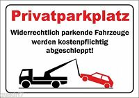 "wetterfestes PVC-Schild: ""Privatparkplatz"""