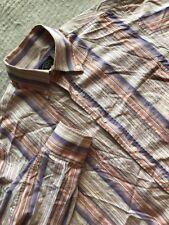 Paul & Shark Yachting Button Shirt Men's Long Sleeve Vertical Striped Size M #B7