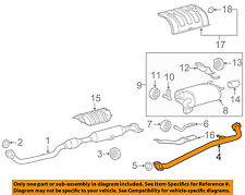 TOYOTA OEM 12-17 Camry 2.5L-L4 Exhaust System-Center Pipe 174200V090