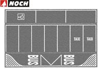 NOCH H0 60720 Parkplatz grau, 2 Stk. je 22 x 14 cm (1m² - 150,82€) NEU + OVP