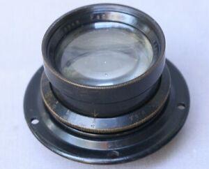 """Old Brass Barrel Wollensak 6"""" 4.5 Velostigmat Lens for 4X5 Large Format Camera"""