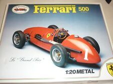 Revival un-made Kit di un 1953 FERRARI 500 auto da corsa, in scatola, Scala 1/20th.