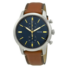Fossil Townsman Chronograph Blue Dial Mens Watch FS5279