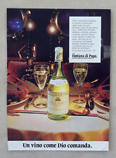 E842-Advertising Pubblicità-1986-FONTANE DI PAPA COLLI ALBANI